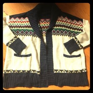 American Eagle fair isle cardigan sweater xl